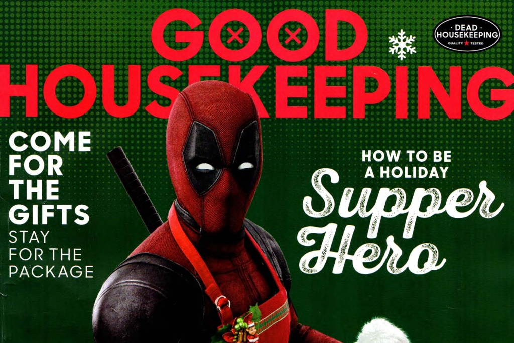 Good Housekeeping cover featuring Deadpool
