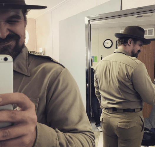 David Harbour's mirror selfie.