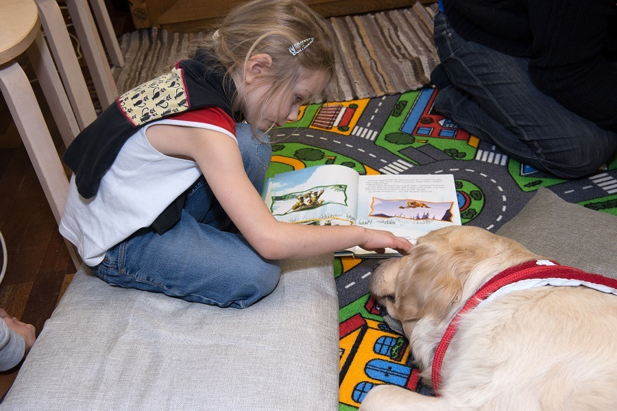 dog hired by a library in Tartu, south Estonia to encourage kids
