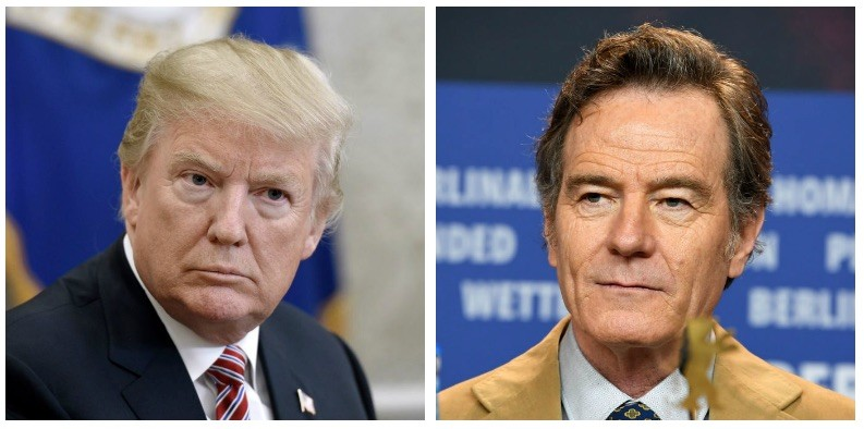 Donald Trump and Bryan Cranston composite image