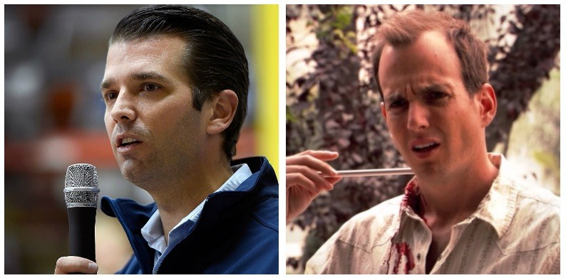 Donald Trump Jr. and Will Arnett composite image