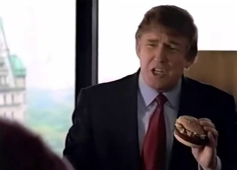 Donald Trump in a McDonald's commercial