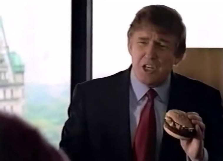 Donald Trump in a McDonald's commercial