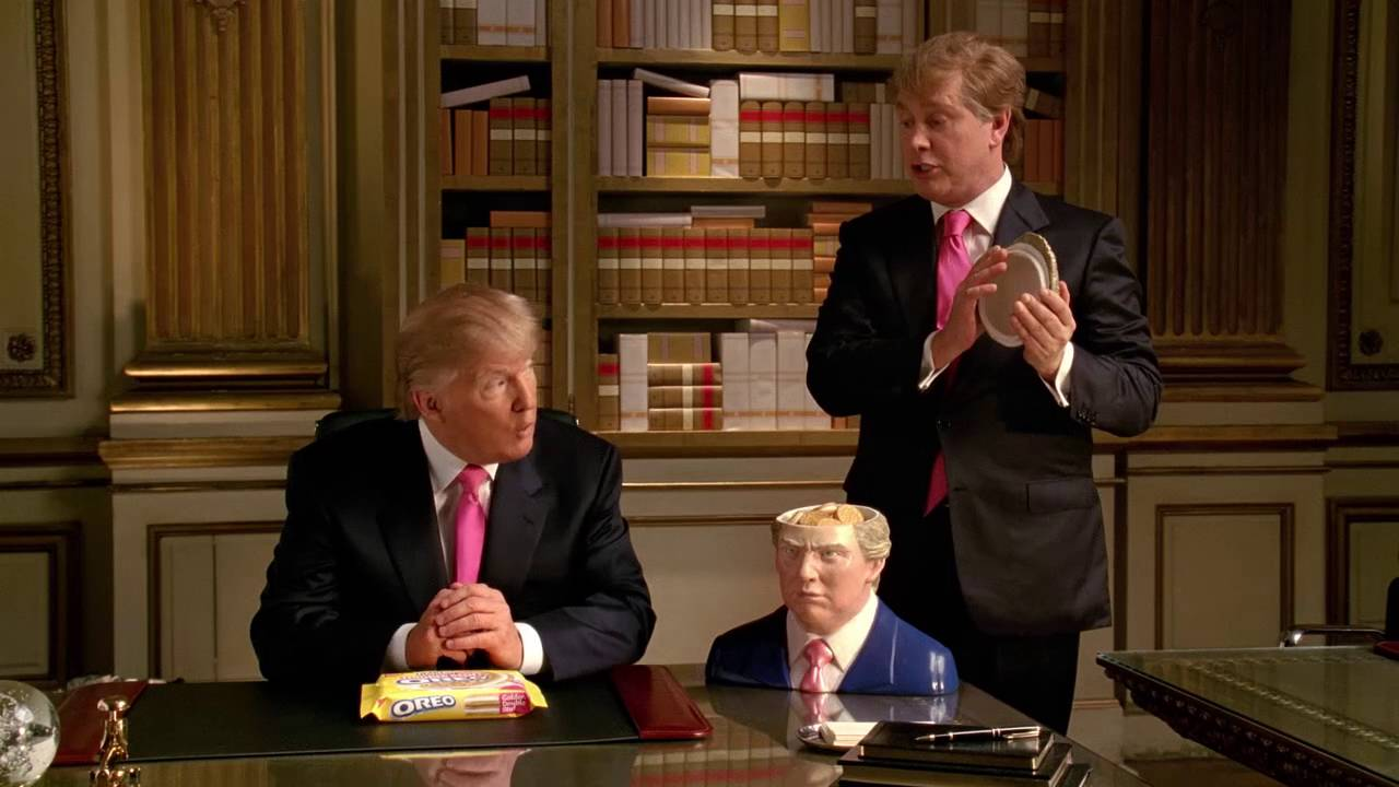 Donald Trump in an Double Stuf Oreos commercial