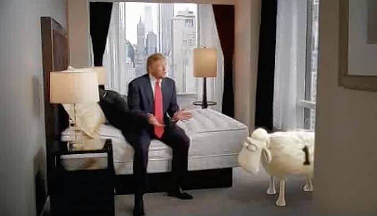 Donald Trump In A Serta Mattress Commercial
