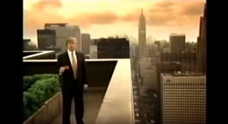 Donald Trump in a Visa Check Card commercial