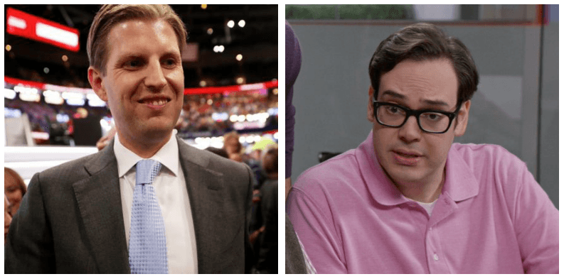 A composite image of Eric Trump and Connor Stevens