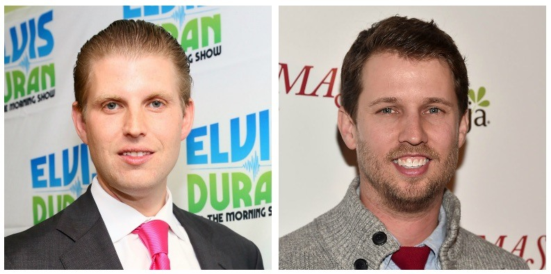 Eric Trump and Jon Heder composite image