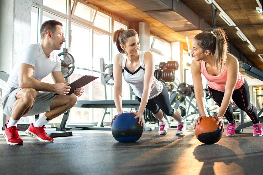 girls exercising