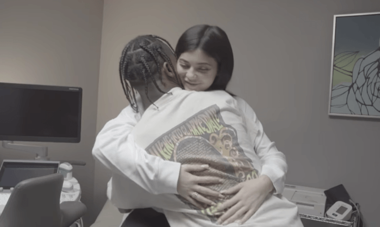 Kylie Jenner hugs Travis Scott