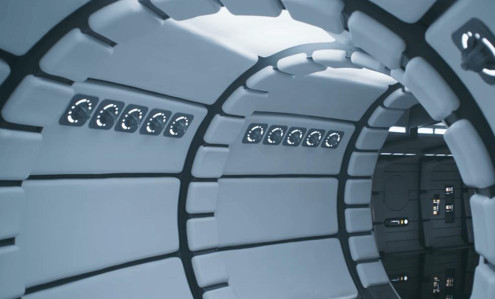 The interior of the Millennium Falcon