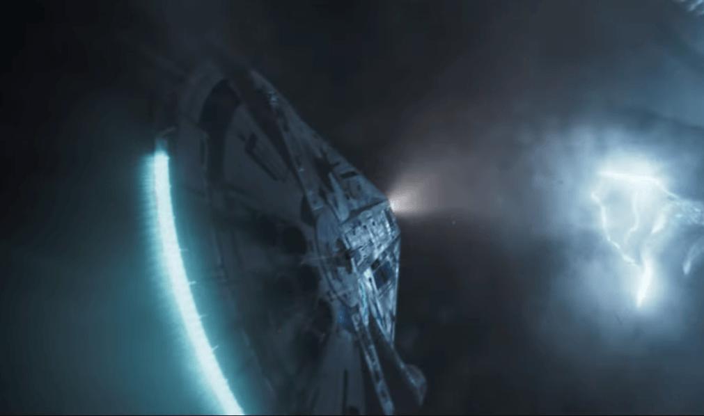 The exterior of the Millennium Falcon