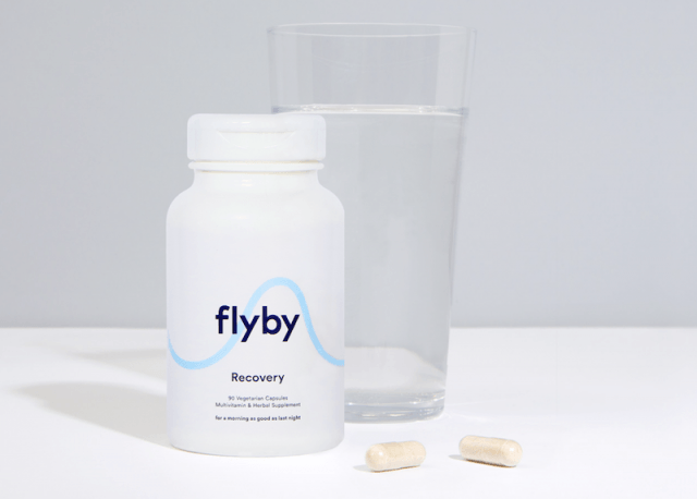A bottle of flyby and water.