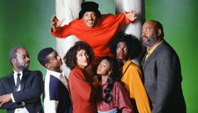 The cast of 'The Fresh Prince of Bel-Air' together in a promo photo.