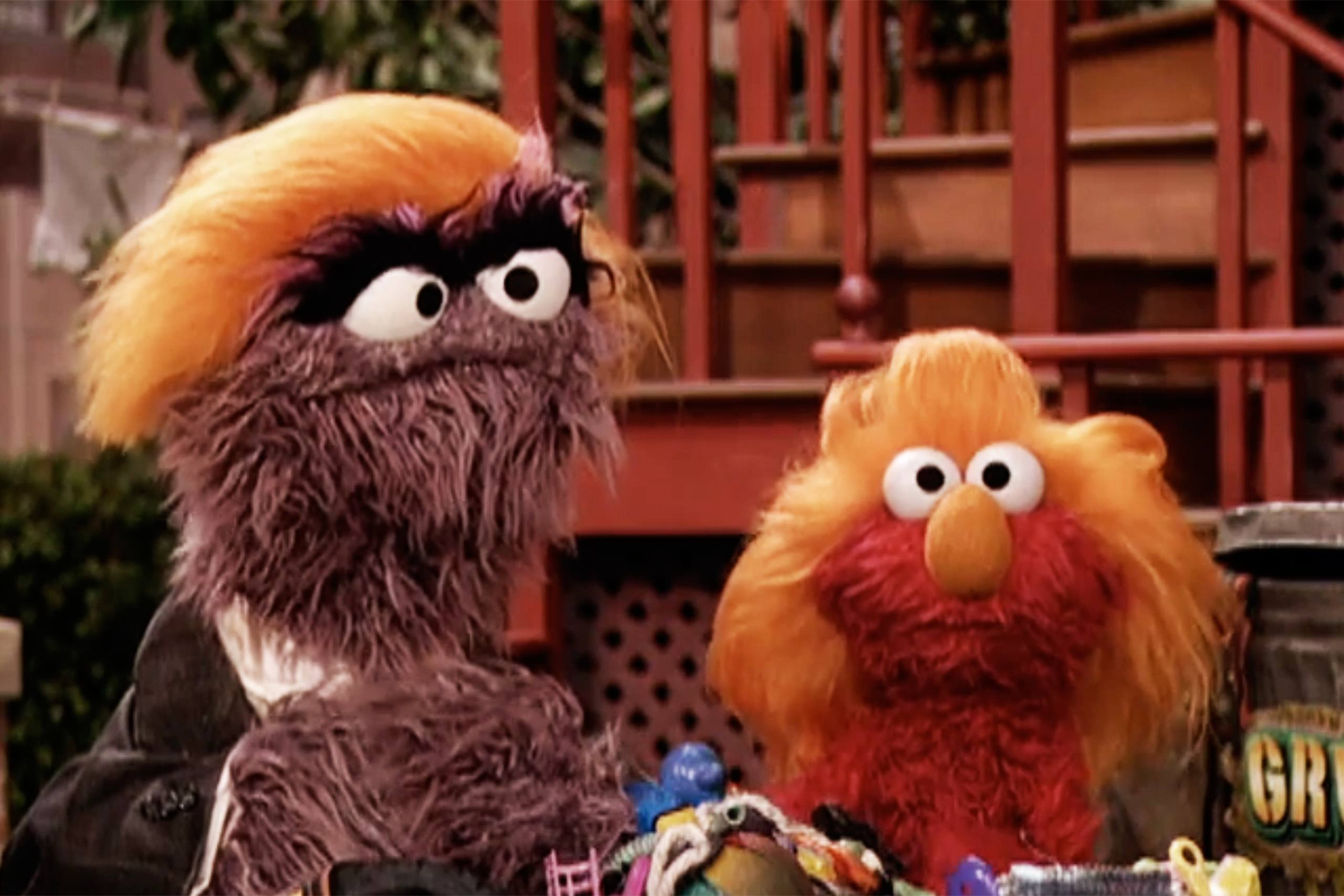"""Donald Grump"" on Sesame Street."