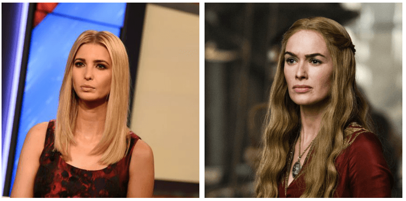 Ivanka Trump and Cersei Lannister composite image