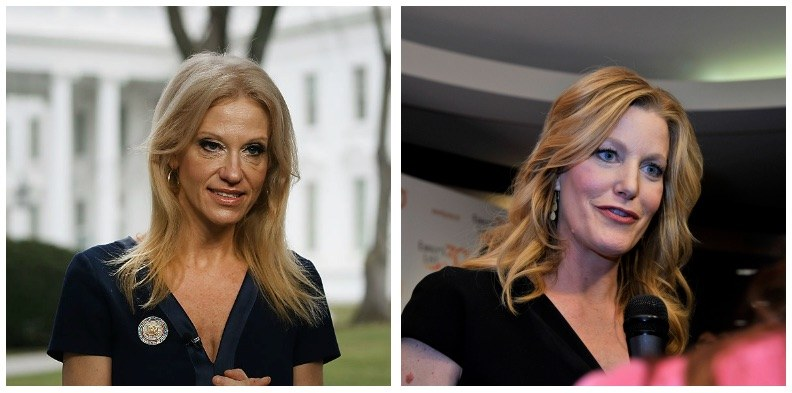 Kellyanne Conway and Anna Gunn composite image