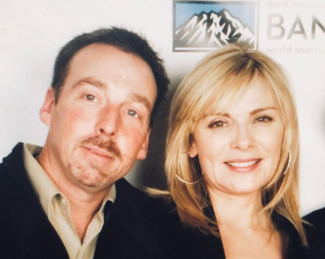 Kim Cattrall and her brother, Chris