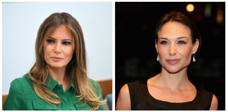 Melania Trump and Claire Forlani composite image