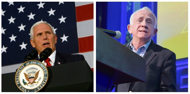 Mike Pence and Leslie Jordan composite image