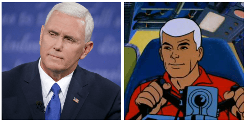 A composite image of Mike Pence and Race Bannon