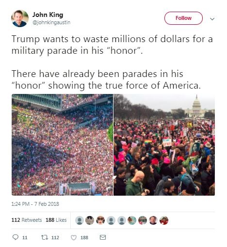 womens march military parade