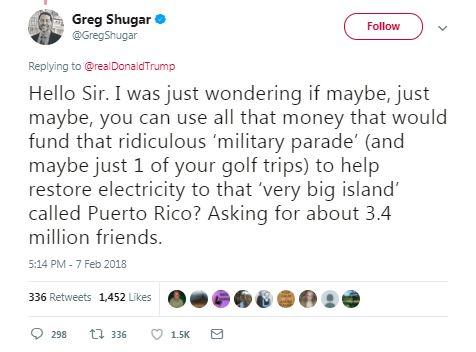 puerto rico military parade tweet