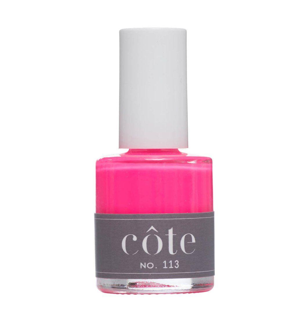 Neon color nail polish