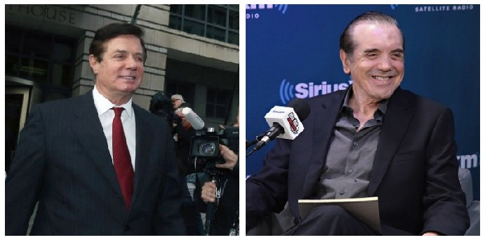 A composite image of Paul Manafort and Chazz Palminteri