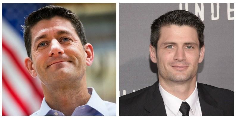 Paul Ryan and James Lafferty composite image