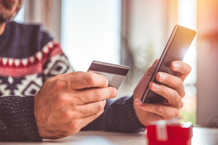 credit card and smart phone