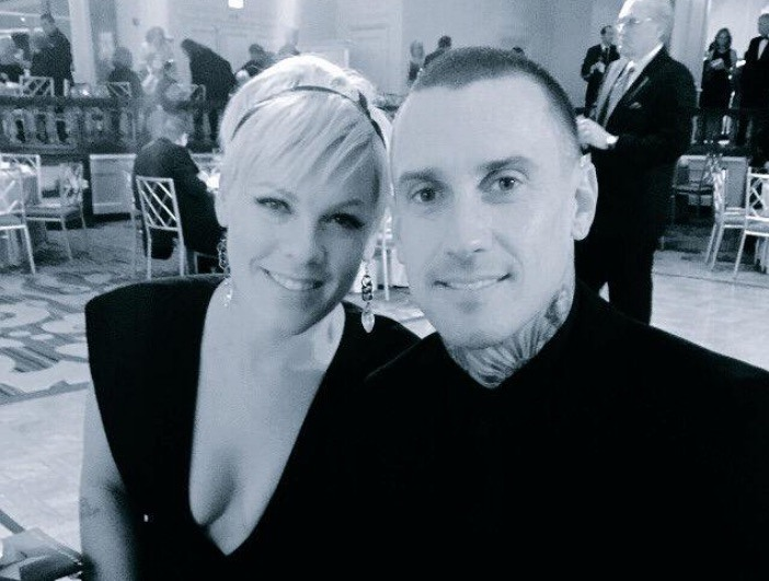 Pink and her husband