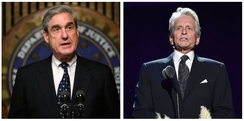 Robert Mueller and Michael Douglas composite image
