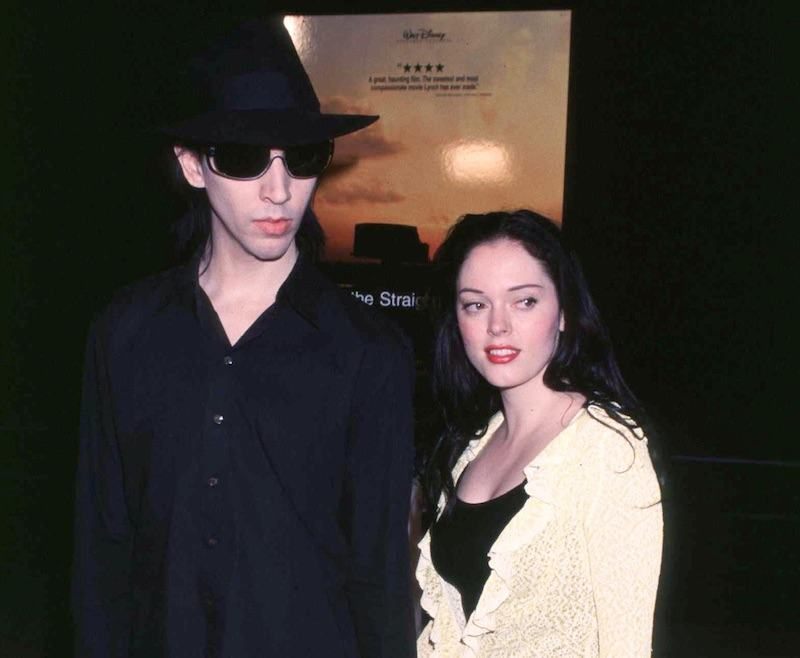 10/11/99 Hollywood, CA. Marilyn Manson and fiancee Rose McGowan at the Los Angeles premiere of Walt Disney Pictures'' 'The Straight Story.' Photo by Brenda Chase Online USA, Inc.