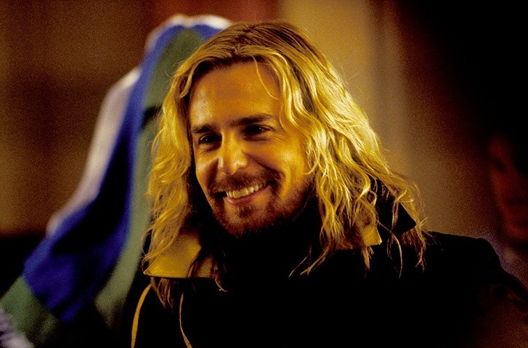 Sam Rockwell as Zaphod Beeblebrox in The Hitchhiker's Guide to the Galaxy