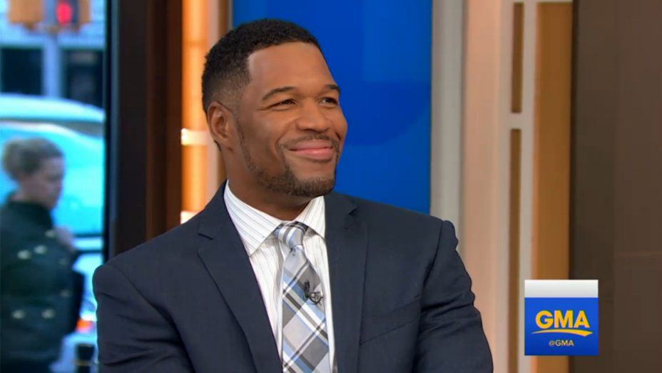 Michael Strahan smiles on Good Morning America