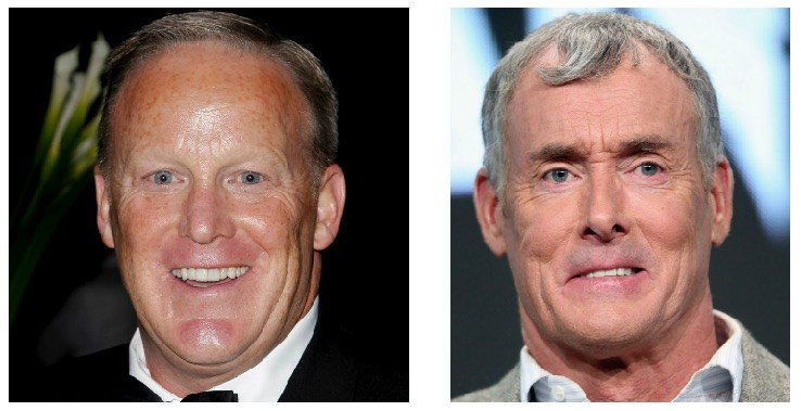 Sean Spicer and John C. McGinley composite image