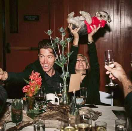 shaun white, sarah barthels and leroy the dog