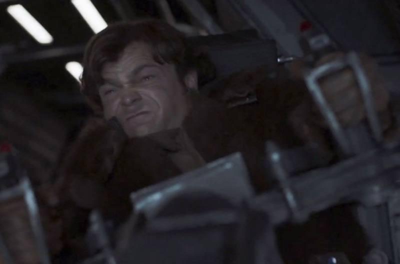 a young Han Solo pilots