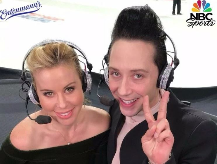 Tara Lipinski and Johnny Weir host a podcast together