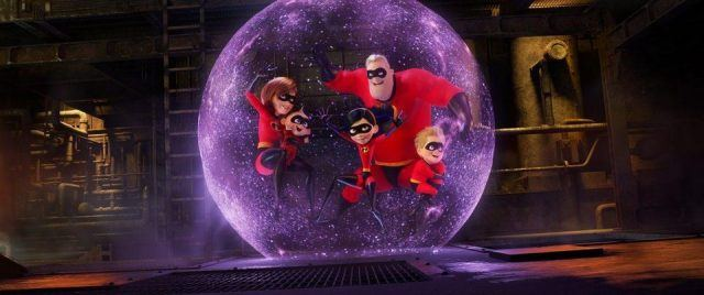 The family is trapped inside a large purple orb.