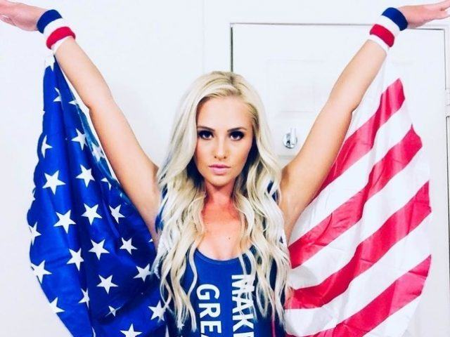 Tomi Lahren wearing the flag costume.
