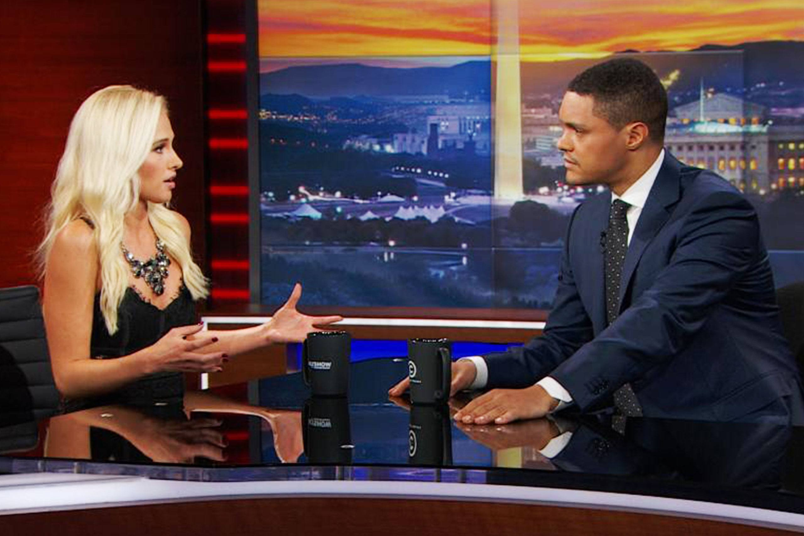 Tomi Lahren and Trevor Noah on The Daily Show