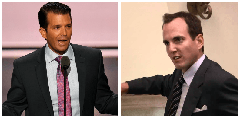 A composite image of Donald Trump Jr. and GOB