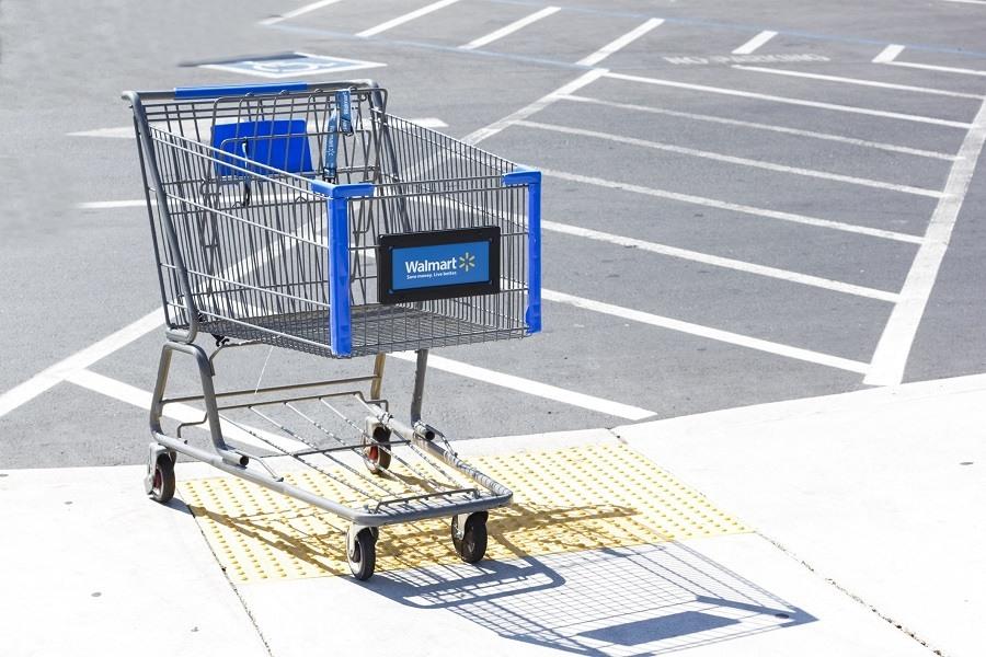 Shopping cart at walmart