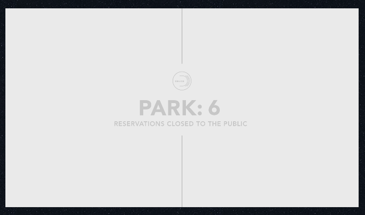 An icon featuring six parks.
