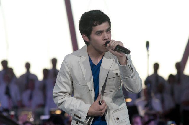 """David Archuleta performs during the annual PBS """"A Capitol Fourth"""" concert at the US Capitol."""
