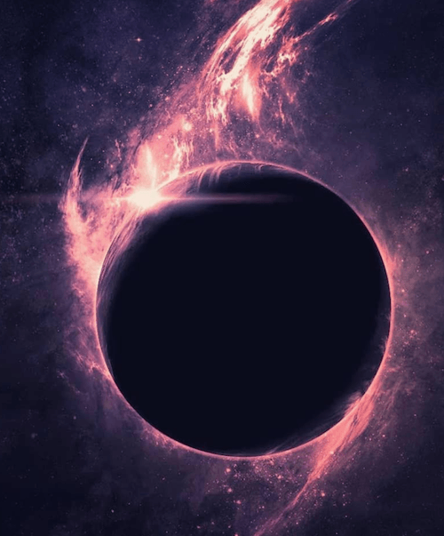 A computer generated black hole.
