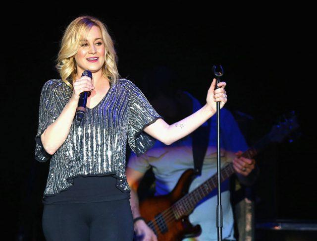 Singer Kellie Pickler performs onstage at the 4th ACM Party for a Cause Festival.
