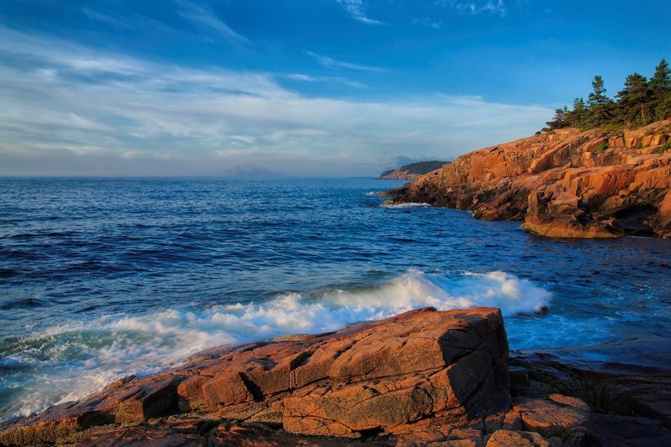 Maine coast in Acadia National Park.